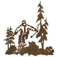 Skier Metal Wall Art