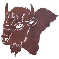 Buffalo Head Metal Wall Art