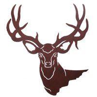Mule Deer Head Metal Wall Art