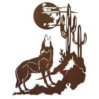 Howling Coyote Metal Wall Art