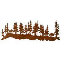 Forest Scene Metal Wall Art