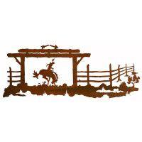 Bucking Bronc Ranch Metal Wall Art