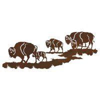 Buffalo Herd Metal Wall Art