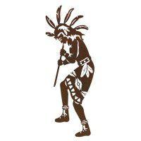 Native American Flute Player 1 Metal Wall Art