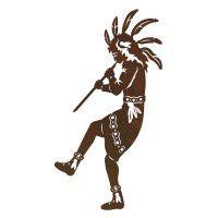 Native American Flute Player 2 Metal Wall Art