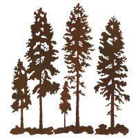 Lodge Pole Pine Triptych Metal Wall Art