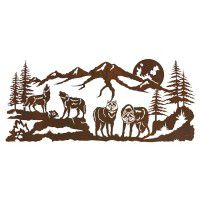 Rustic and Wildlife Metal Wall Art