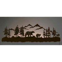 Bear Family Back Lit Wall Art