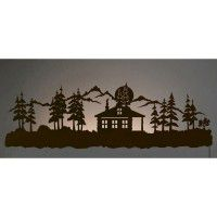 Cabin in the Pines Back Lit Wall Art