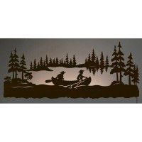 Canoeing Back Lie Wall Art