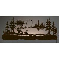 "42"" Fly Fishing Back Lit Wall Art"