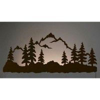 Mountain Scene Back Lit Wall Art