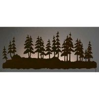 Pine Forest Back Lit Wall Art