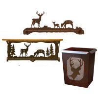 Whitetail Deer Towel Bars and Bath Hardware