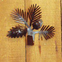 Silhouette Pine Cone Single Hook