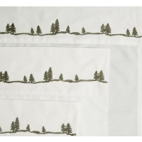 Embroidered Pine Sheet Sets