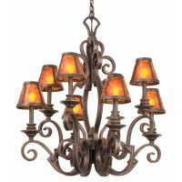 Ibiza Rustic 8 Light Chandelier