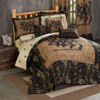 3D Buckmark Comforter Set