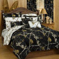 Black Camo Bedding
