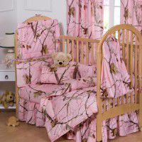 Pink Camo Baby Bedding