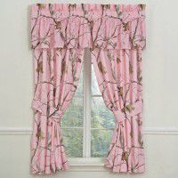 Pink Camo Drape and Valance
