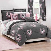 Bone Collector Pink and Grey Bedding