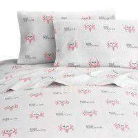 Bone Collector Pink and Grey Sheet Sets