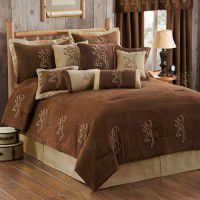 Buckmark Embroidered Comforter Sets