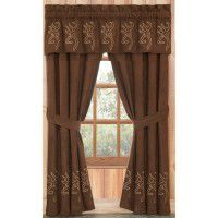 Buckmark Embroidered Drapes & Valance