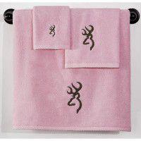 Pink Buckmark Towel Set - 3 Pcs