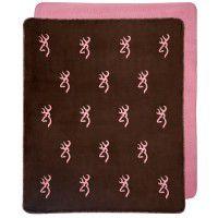 Browning Pink Buckmark Throw