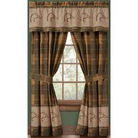 Plaid Ducks Unlimited Drapes & Valance