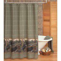 Rustic Shower Curtains   Bathroom Decor   Bear Decor   Moose Decor   Elk  Decor