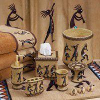 Kokopelli Bath Accessories Set