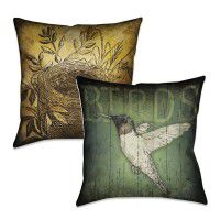 Reversible Lodge Bird Pillow