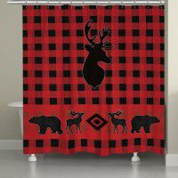 Buffalo Check Wildlife Shower Curtain