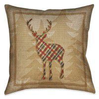 Country Cabin Deer Pillow