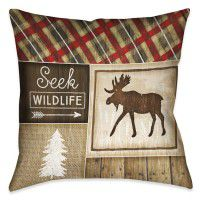 Country Cabin Moose Pillow