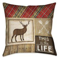 Country Cabin Elk Pillow