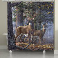 Cold Snap - Deer Shower Curtain