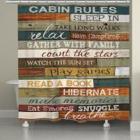 Cabin Rules Shower Curtain