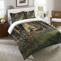 Deer in Autum Light Duvet Covers