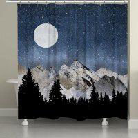 Midnight Mountain Shower Curtain