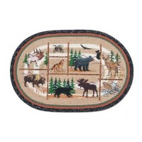 Lodge Animals Jute Rug 20 x 30