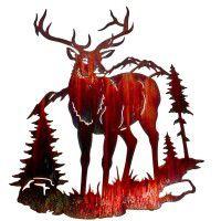 Elk Mountain Metal Wall Art- DISCONTINUED