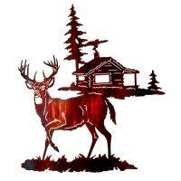 Gone Tomorrow Deer Metal Wall Art -DISCONTINUED