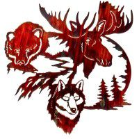 Land of the Midnight Sun Wildlife Metal Wall Art-DISCONTINUED