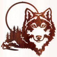 Moonlight Wolf Metal Wall Art-DISCONTINUED