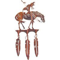 End of Trail with Feathers Wall Art- DISCONTINUED