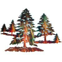 Pine Trees Metal Wall Art -DISCONTINUED - limited available